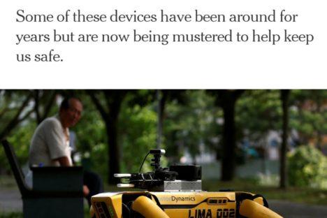 Robots are fighting COVID-19